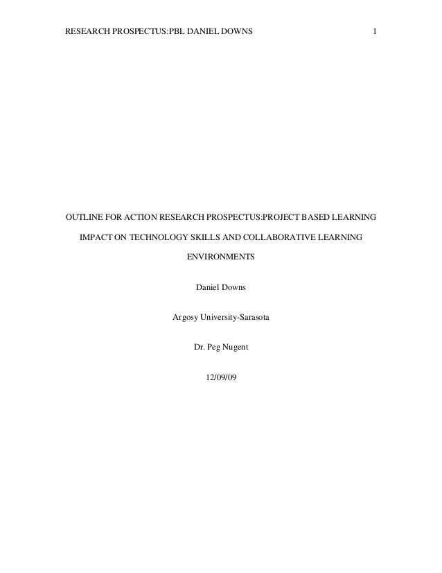 Action research example paper