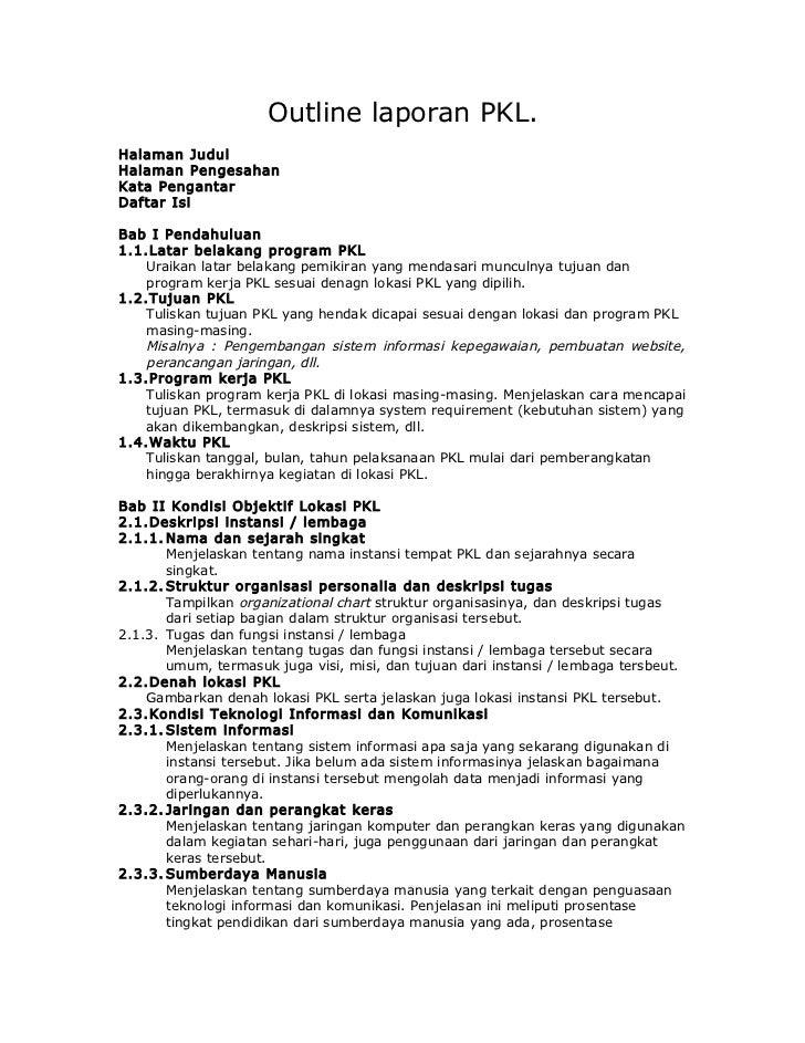 Outline laporan pkl