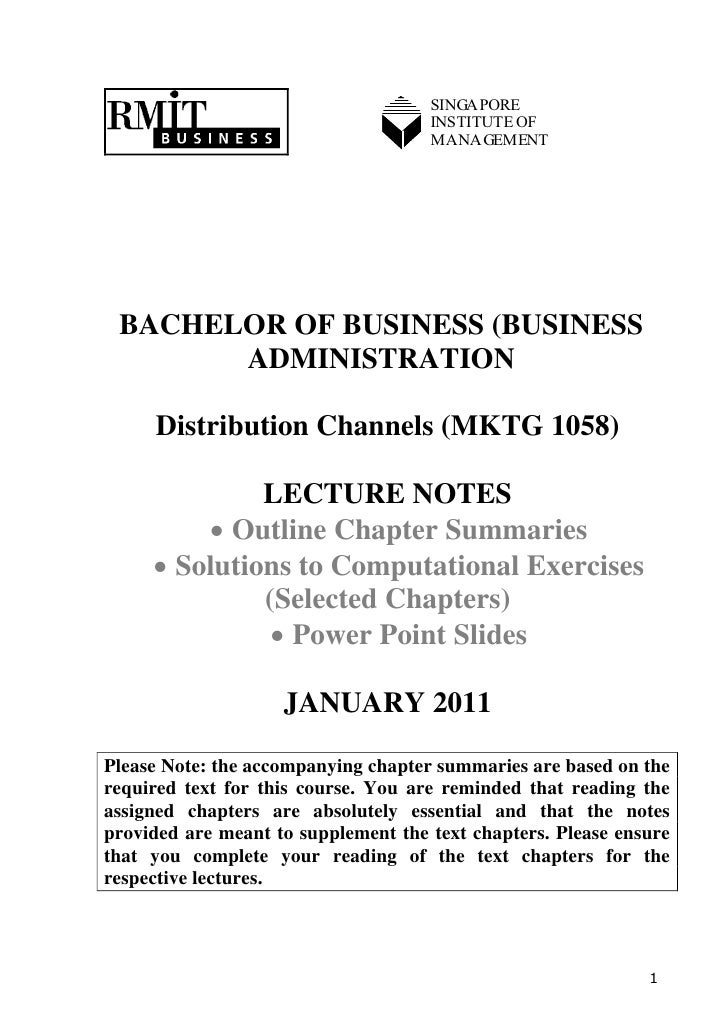SINGAPORE                                     INSTITUTE OF                                     MANAGEMENT BACHELOR OF BUSI...
