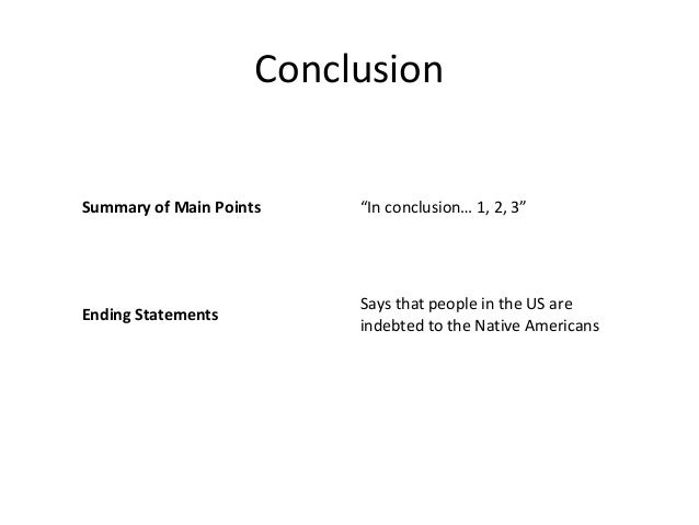 Essay Conclusion Outline