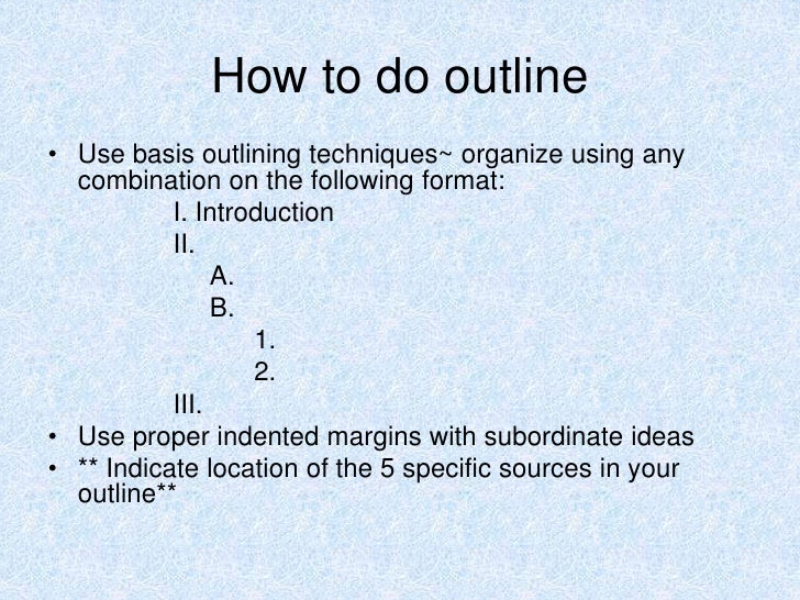 Create an outline from scratch