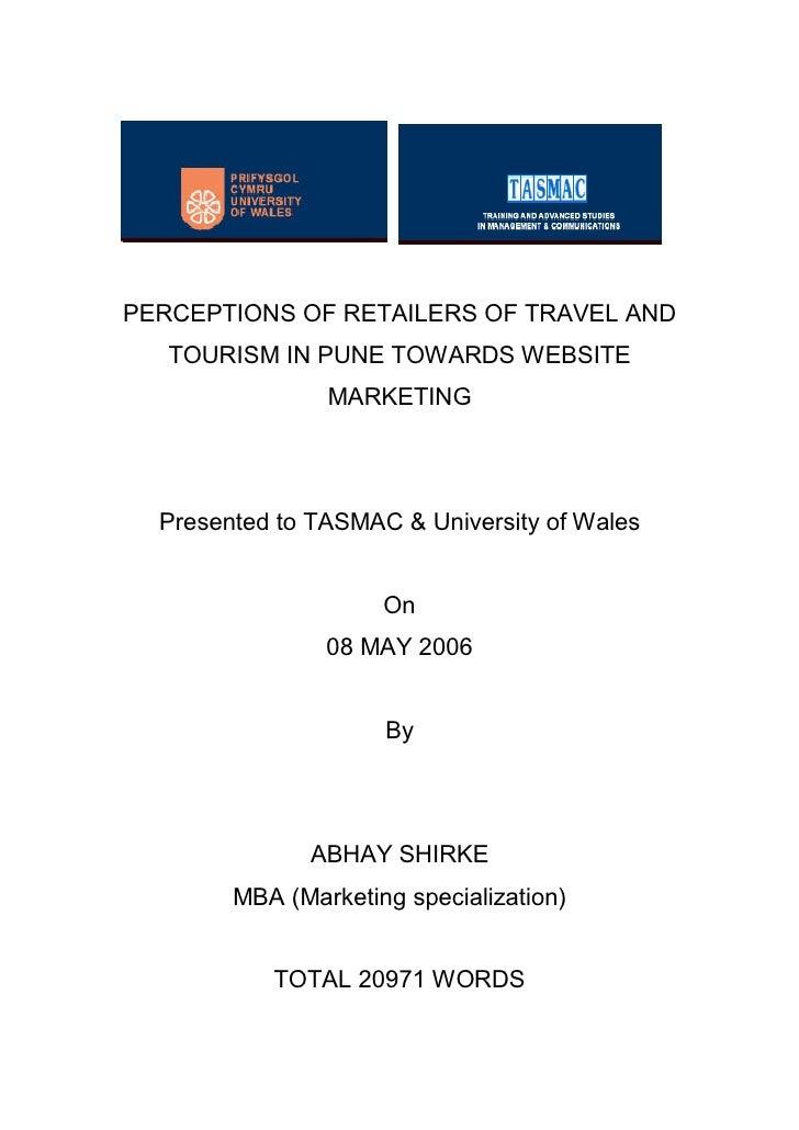 Outline of dissertation