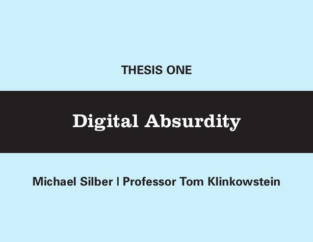 Thesis One Presentation: Nov 26
