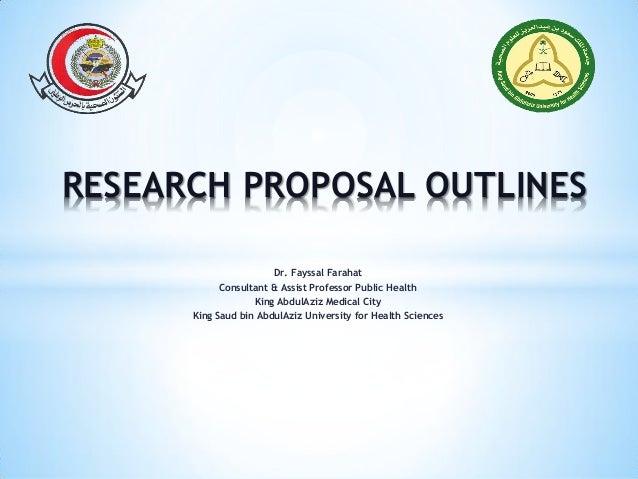 Public health research proposal