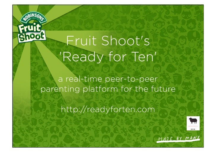 Ready for Ten, FruitShoot's platform for parents of 6 to 9 year olds