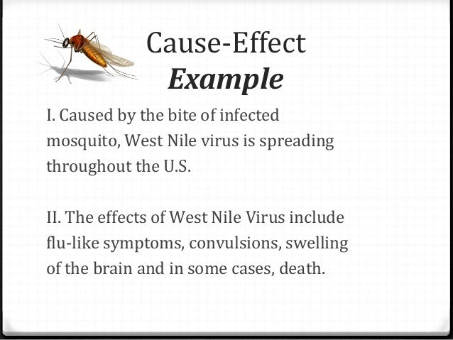 Cause and effect essay layout