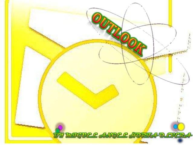 ¿                                      ?Microsoft Outlook es una aplicación de gestión decorreo, así como agenda personal,...