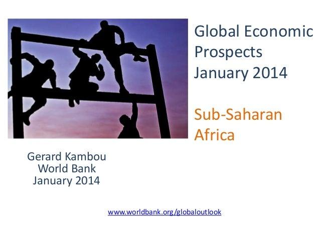 Sub-Saharan Africa Outlook, Jan 2014