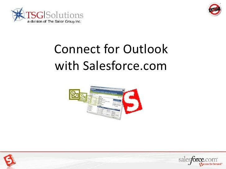 Connect for Outlook with Salesforce.com<br />