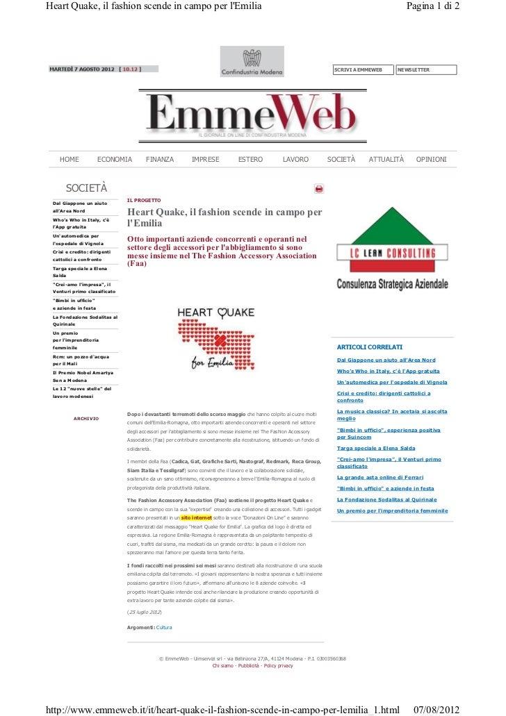 Outlook modena il fashion per l' emilia