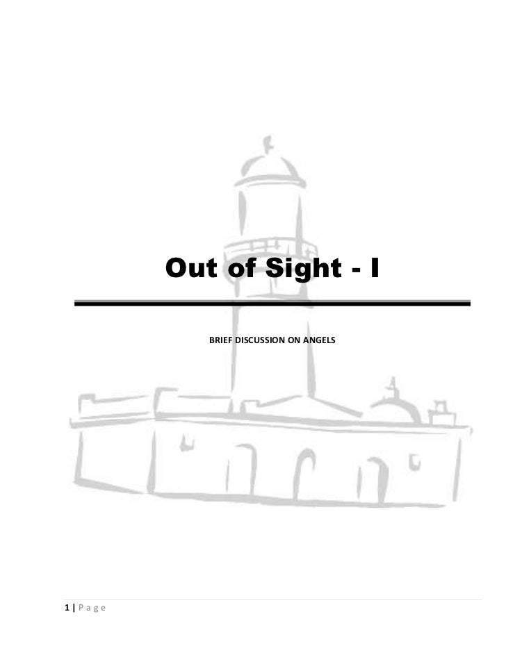 Out of Sight - I            BRIEF DISCUSSION ON ANGELS1|Page