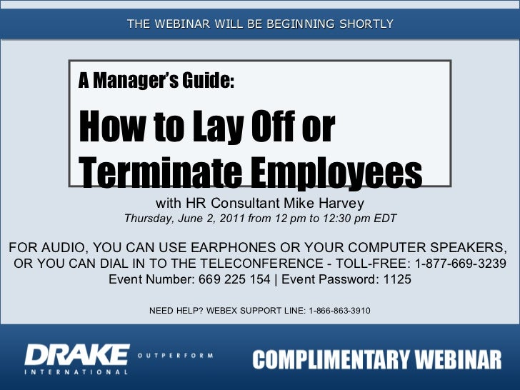 A Manager's Guide: How to Lay Off or Terminate Employees