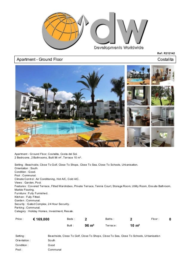 Cheap Apartment For Sale Costalita - Just € 169,000