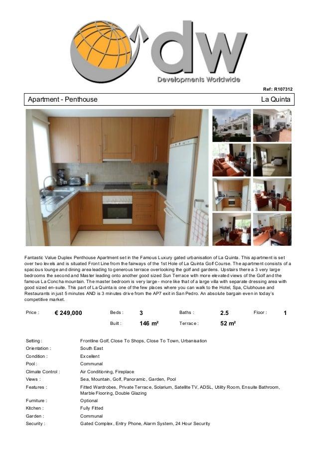 Bargain Apartment For Sale La Quinta San Pedro - € 249,000