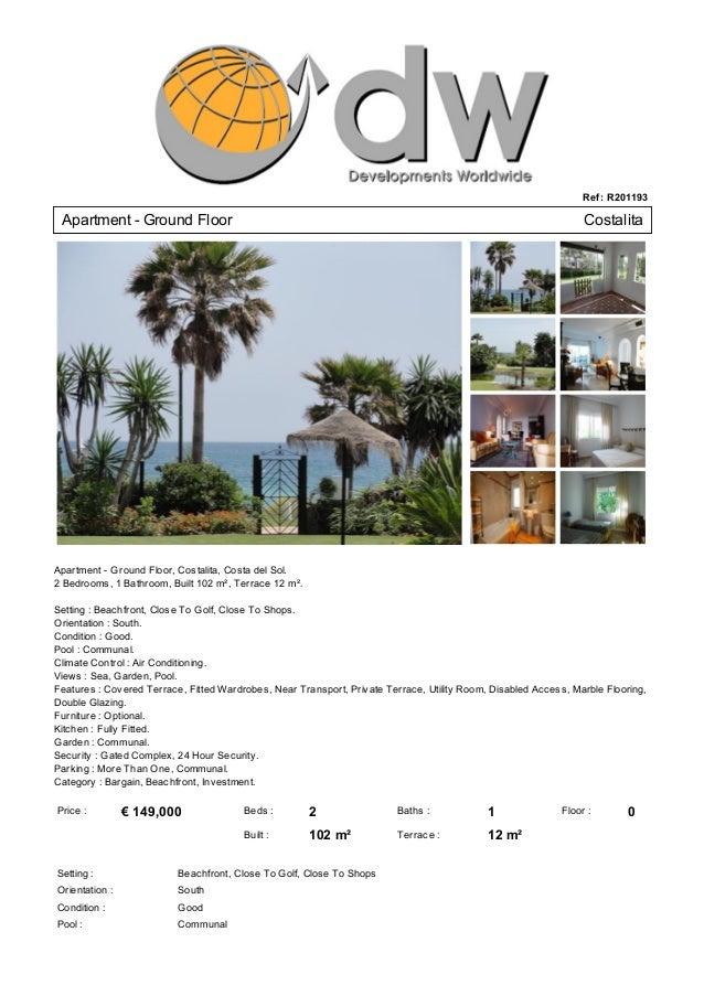 Bargain Apartment For Sale In Costalita Spain - € 159,000