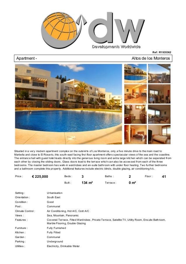 Luxury Apartment For Sale Los Monteros Marbella - € 225,000