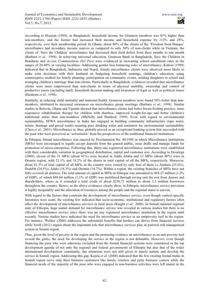 microcredit in bangladesh essay