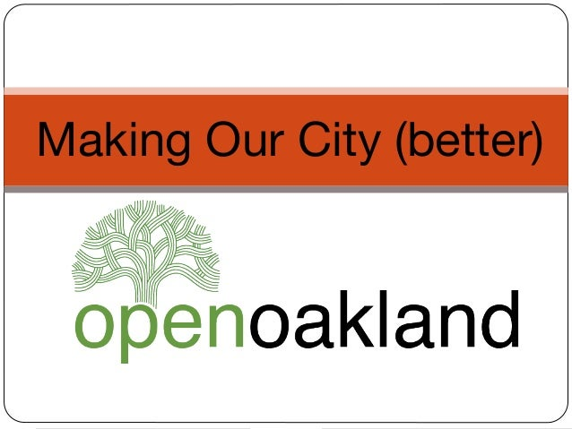 Outreach presentation for the open oakland economic development subcommittee