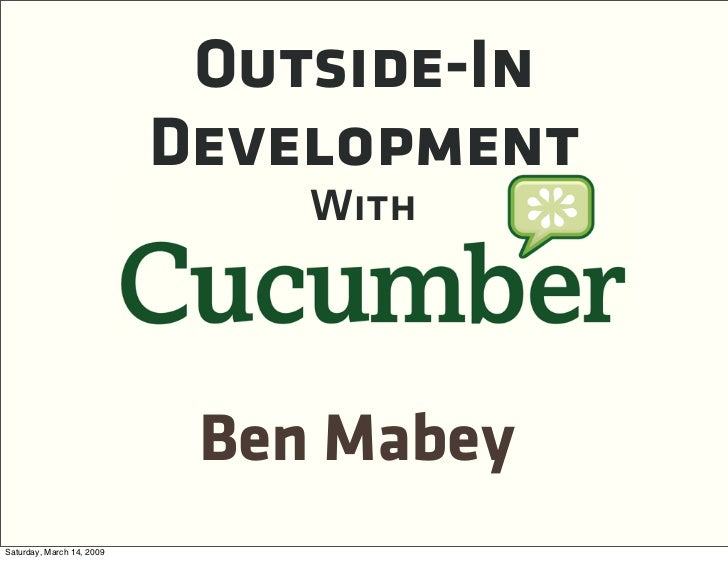 Outside-In                            Development                                With                                 Ben ...