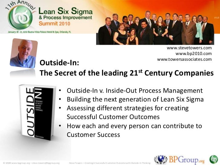 Outside In The Secret Of The Leading 21st Century Companies Show
