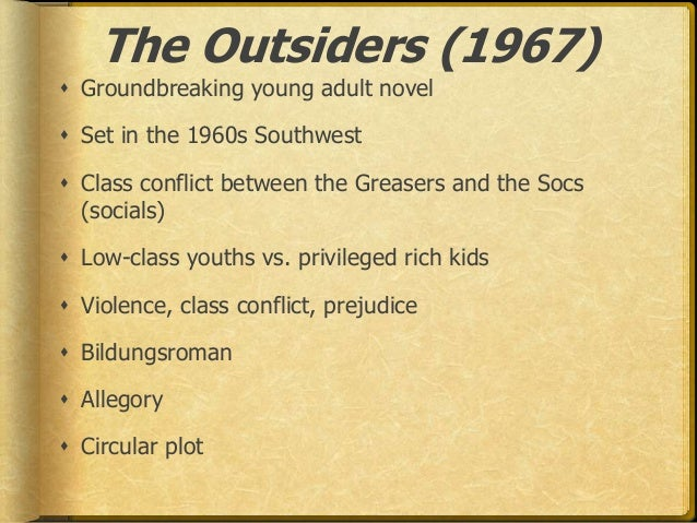 a discussion on character setting and plot development in the outsiders by se hinton Book report: the outsiders the setting of the story in a city in the novel concerns itself with the development of ponyboy's character who is at times.