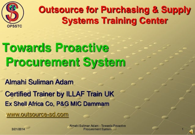 Outsource for purchasing & supply system training center