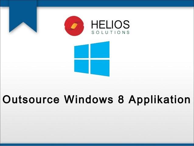 Outsource Windows 8 Applikation