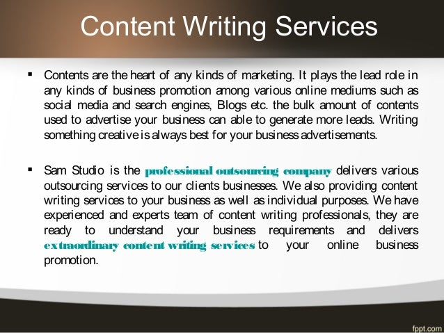 Editing and Writing Services «