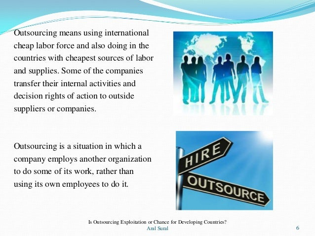 outsourcing 3 essay Alex lach lists five important factors about the overseas outsourcing industry and how it affects american workers esp 5 facts about overseas outsourcing.