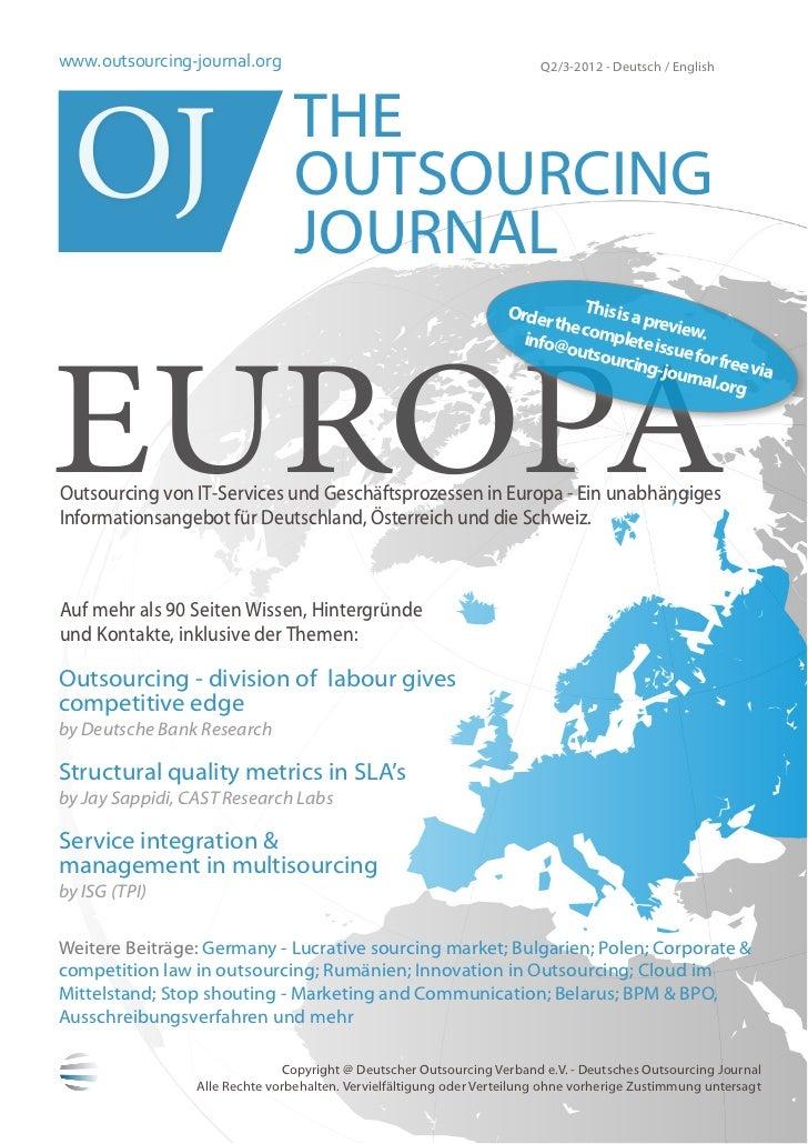 www.outsourcing-journal.org                                              Q2/3-2012 - Deutsch / English OJ                 ...