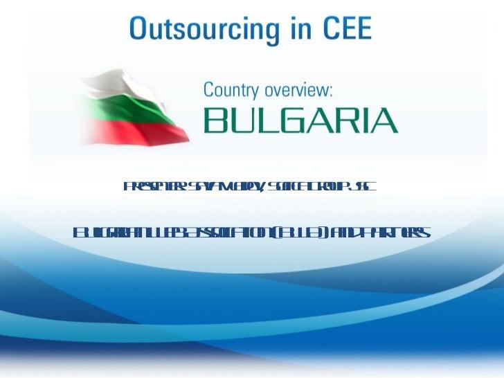 Presenter: Sava Vladov, Sofica Group JSC Bulgarian Web Association (BWA) and Partners