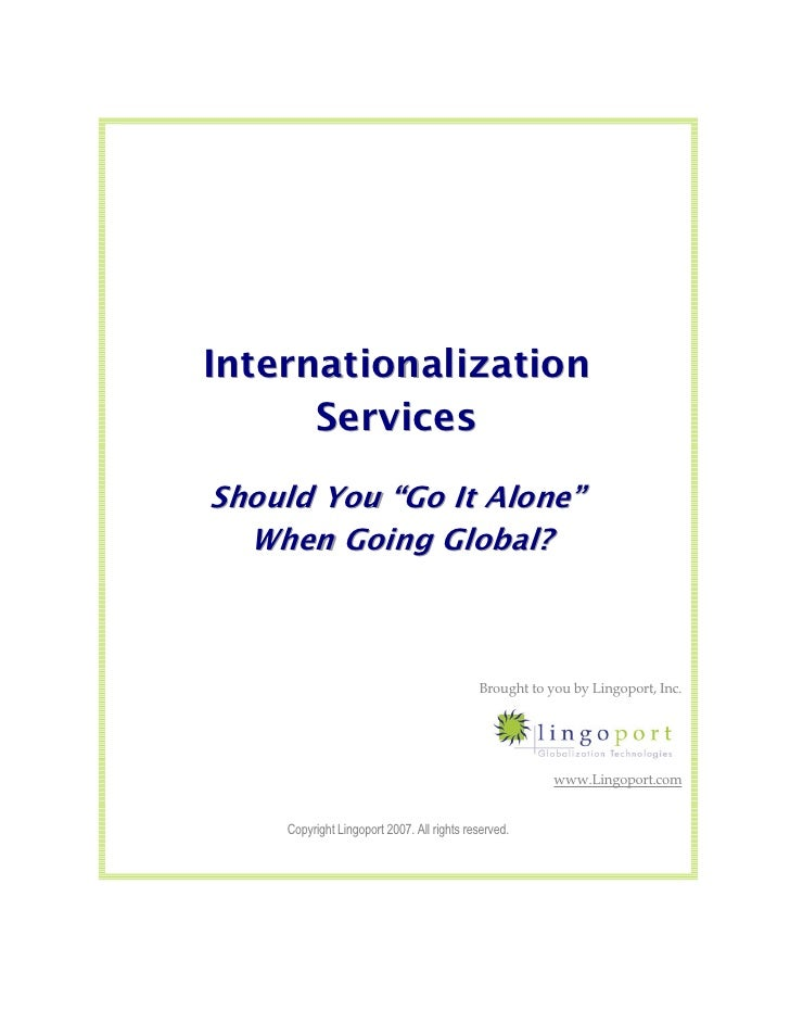 Outsourcing Internationalization (i18n) Services