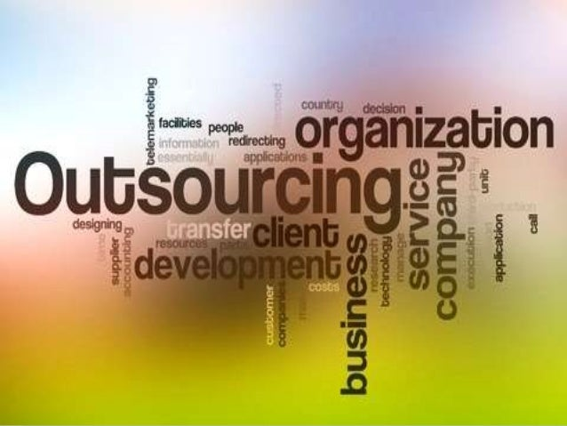 Outsourcing in various functions and industries