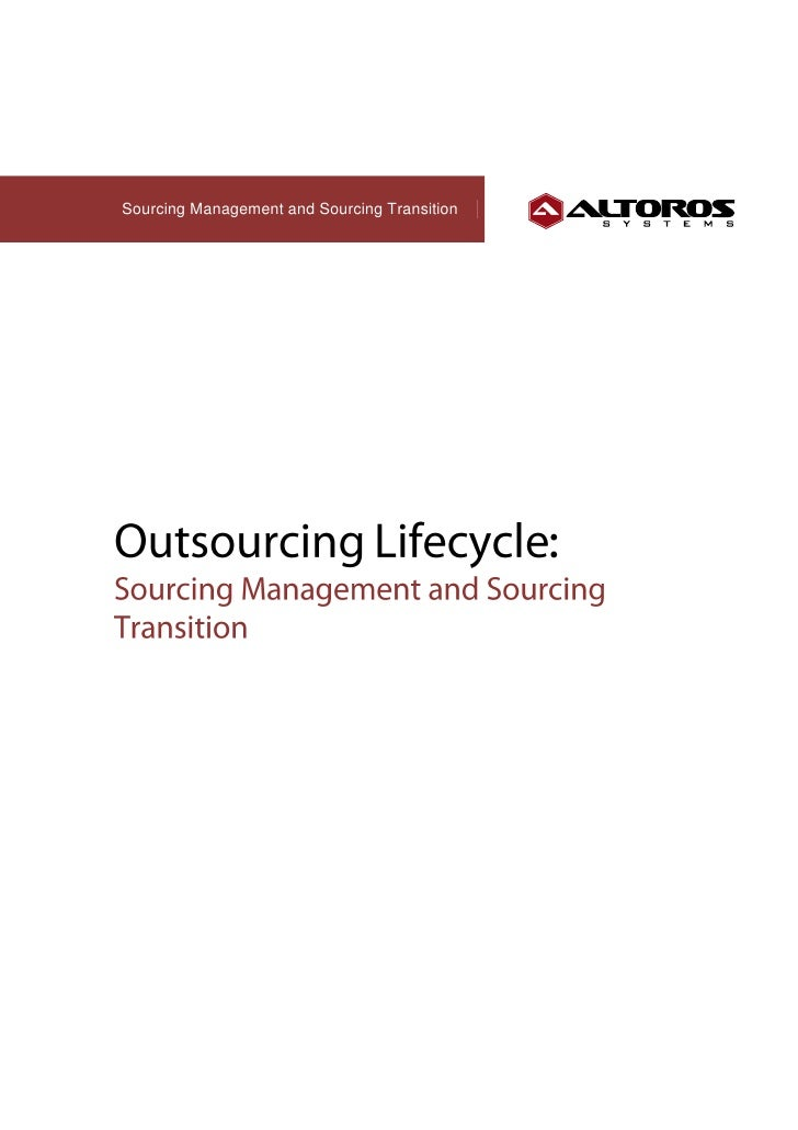 Sourcing Management and Sourcing Transition