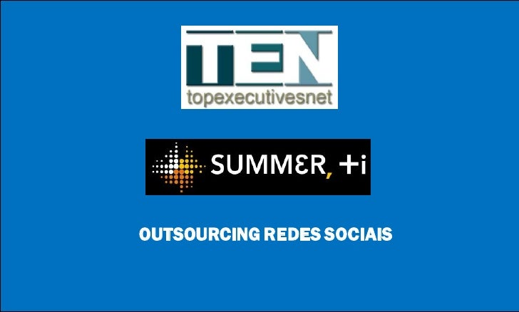 OUTSOURCING REDES SOCIAIS