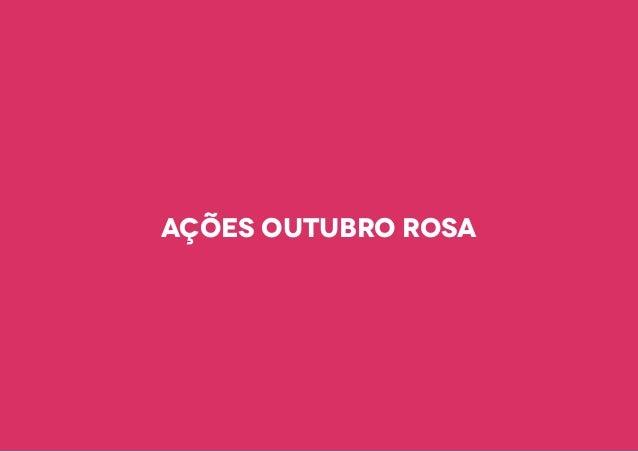 Ações outubro rosa