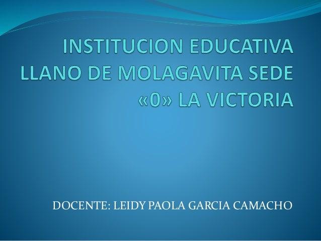 DOCENTE: LEIDY PAOLA GARCIA CAMACHO
