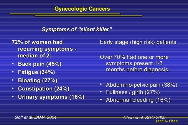 Ovarian Cancer Symptoms Over 70
