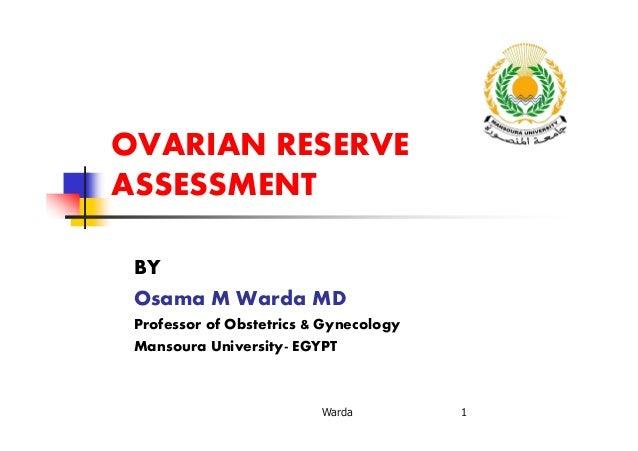Ovarian reserve  o warda