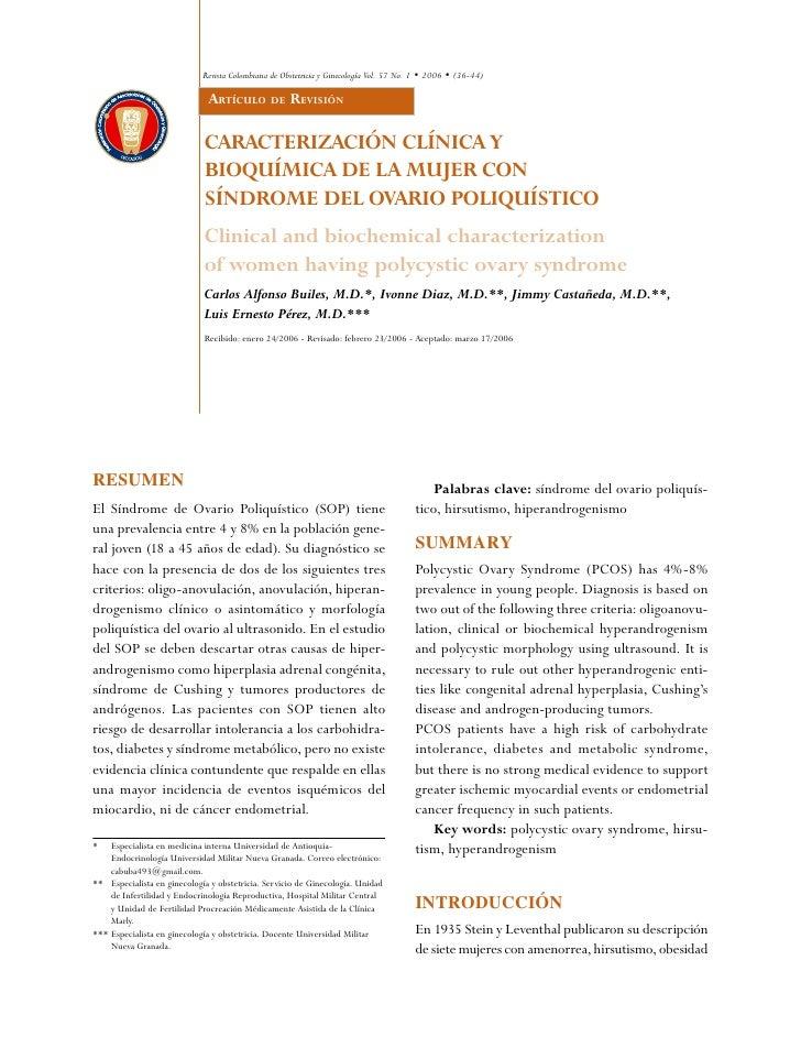 Revista Colombiana de Obstetricia y Ginecología Vol. 57 No. 1 • 2006 • (36-44)                               Artículo de R...