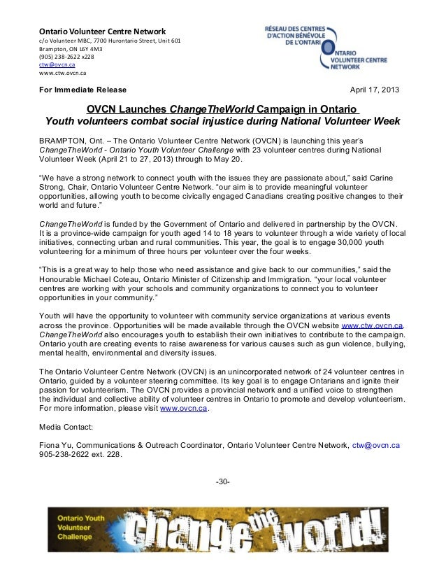 OVCN CTW Launch Press Release Apr 17