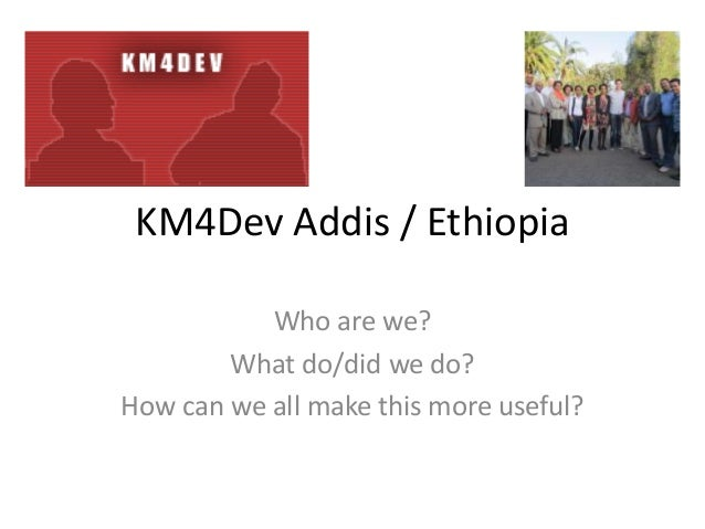 Overall km4 dev aa et presentation