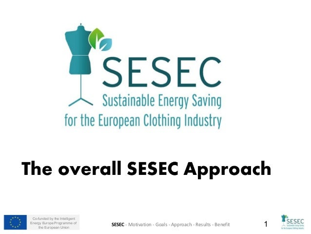 Co-funded by the Intelligent Energy Europe Programme of the European Union 1SESEC - Motivation - Goals - Approach - Result...