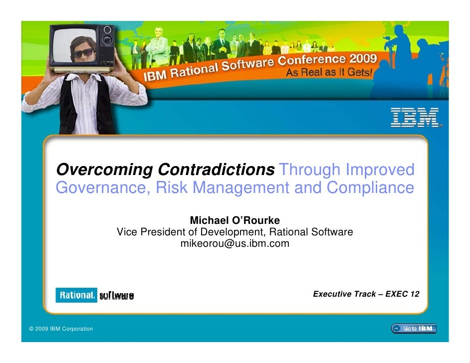 Overcoming Contradictions Through Improved         Governance, Risk Management and Compliance                             ...