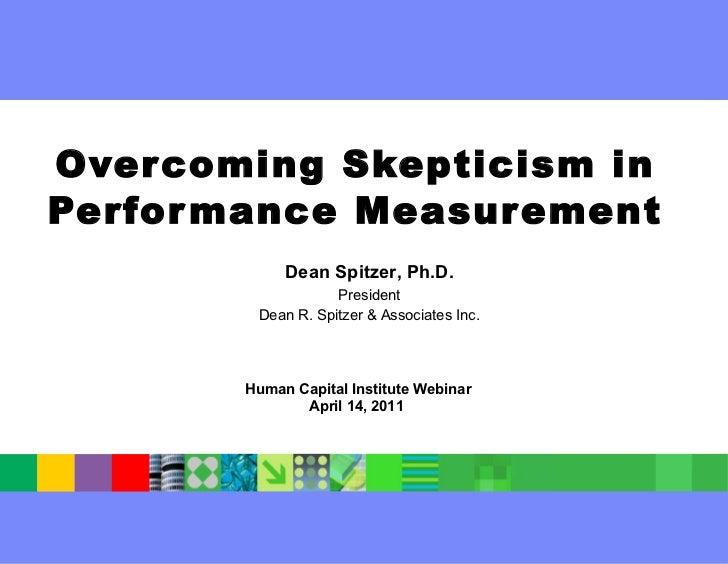Overcoming Skepticism In Performance Measurement   Hci   April 14, 2011   Final