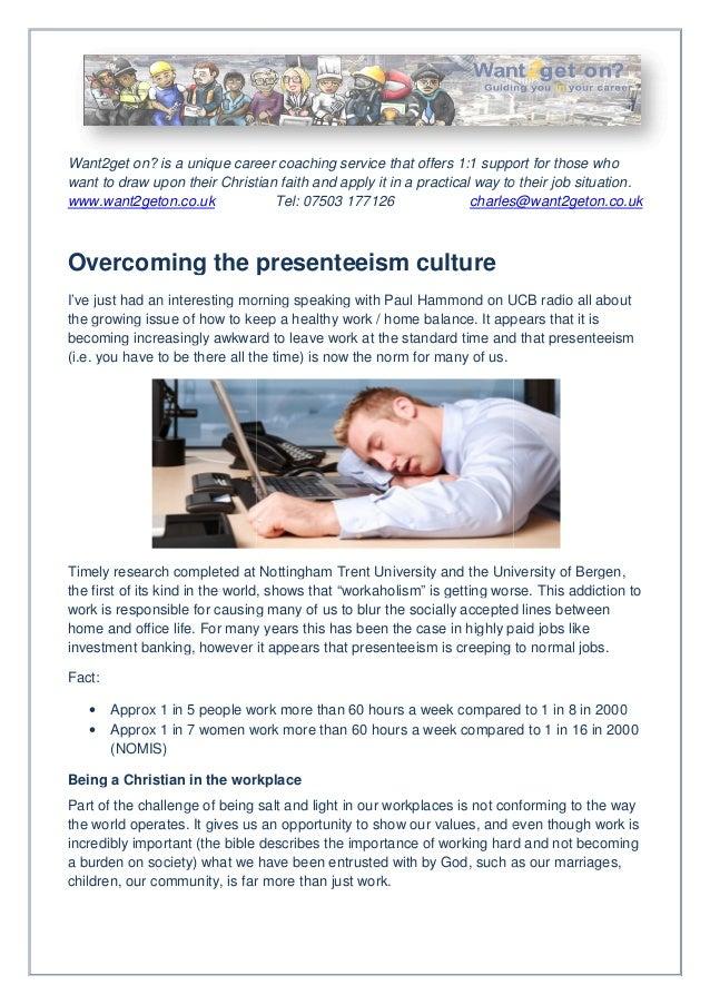Overcoming the presenteesim culture