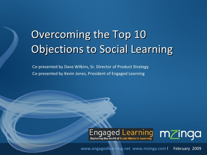 Overcoming Top 10 Objections To Social Learning V2