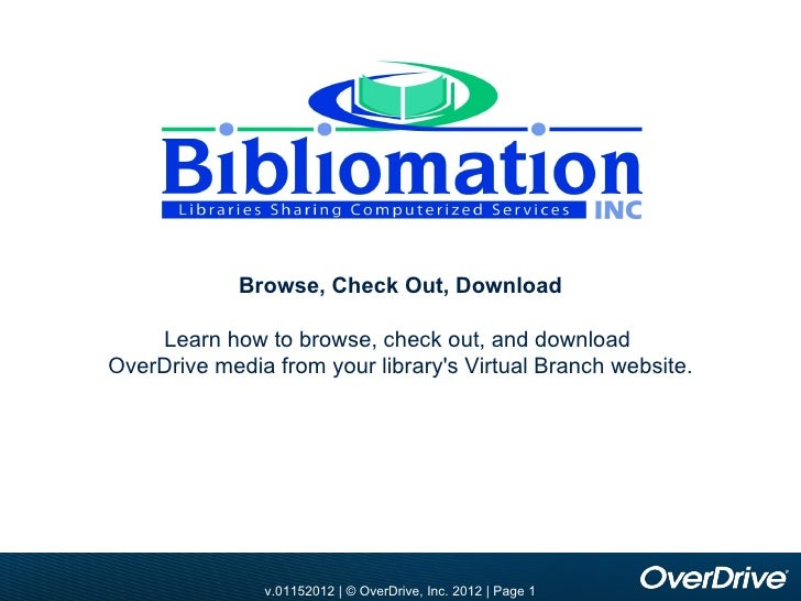 Bibliomation OverDrive Training - Updated