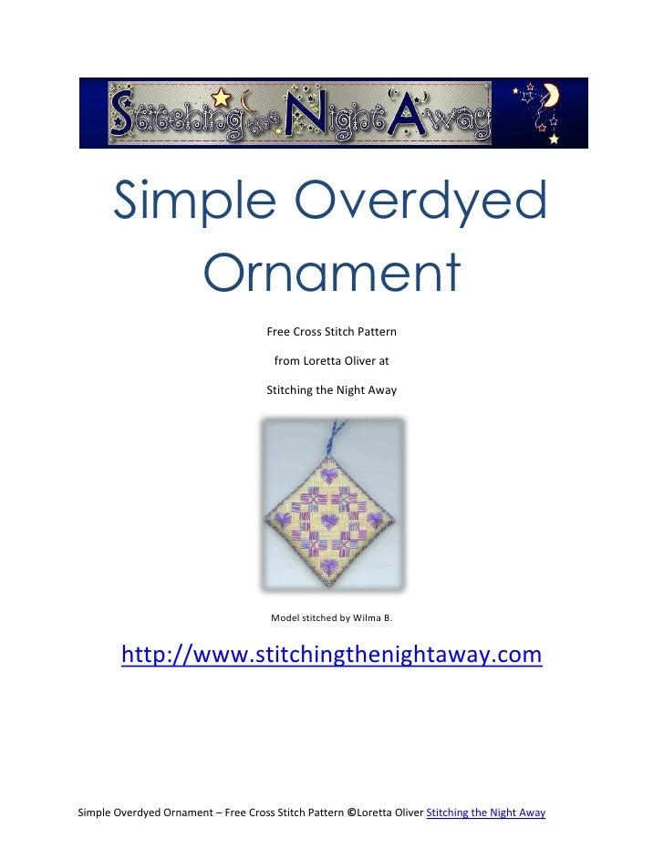 Overdyed Ornament Free Cross Stitch Pattern