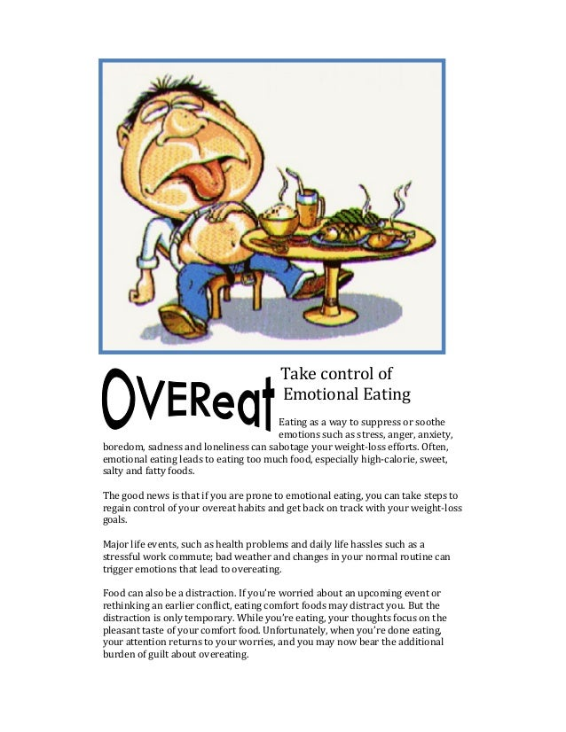Take control of                                        Emotional Eating                                       Eating as a ...